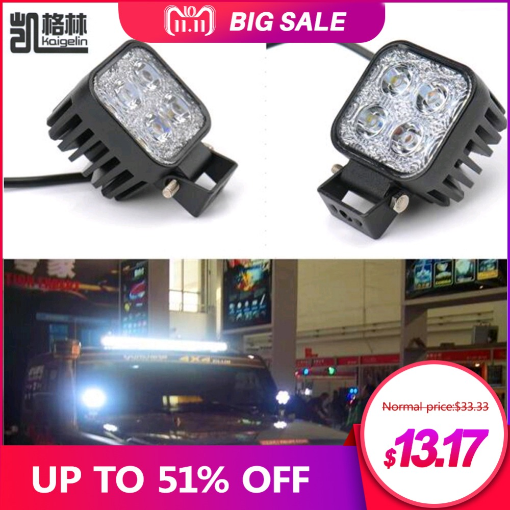 2PCS 12W Car LED Offroad Work Light Bar for Jeep 4x4 4WD AWD SUV ATV Golf Cart 12v 24v Driving Lamp Motorcycle Fog Light