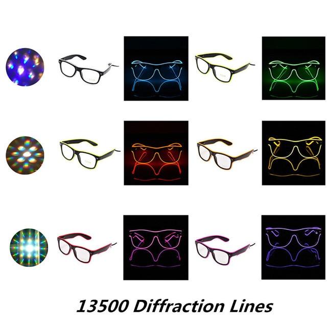 5pcs Flashing EL Wire Led Glasses Luminous Party,LED Light Up ...