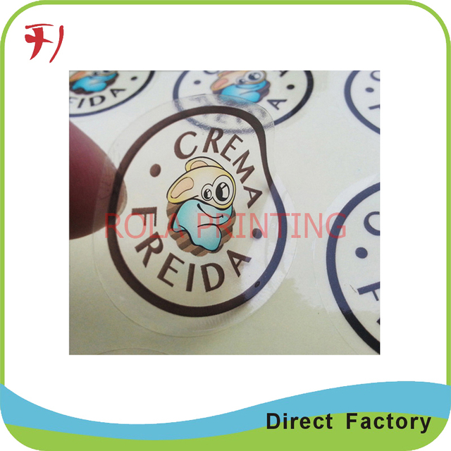 Printing high quality adhesive label sticker for beauty products