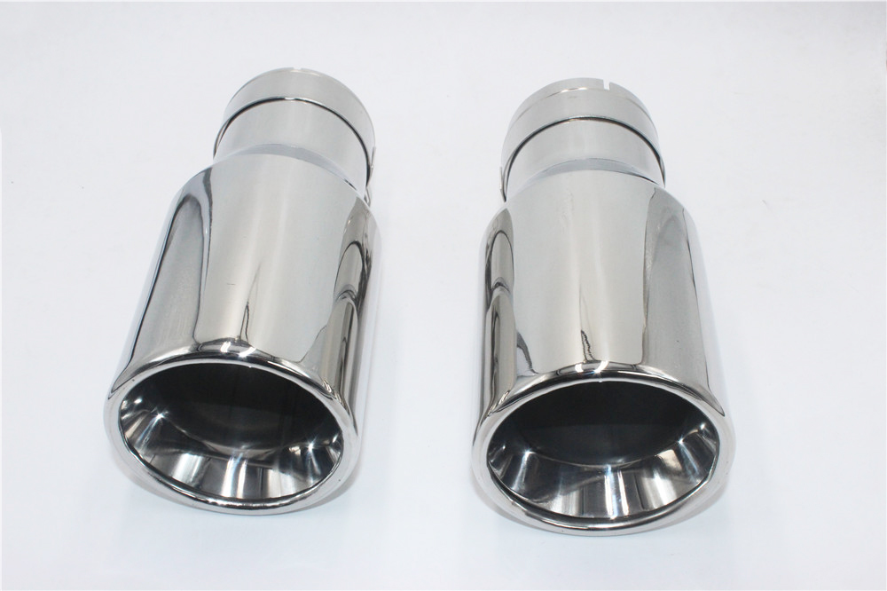 Universal Chrome Stainless Steel Car Rear Dual Exhaust Pipe Tail Muffler Tip Hot