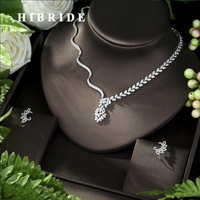 HIBRIDE Necklace Copper CZ New Arrival Charm Fashion Geometric Shape for Women Girl Wedding Jewelry Sets Anniversary N 958