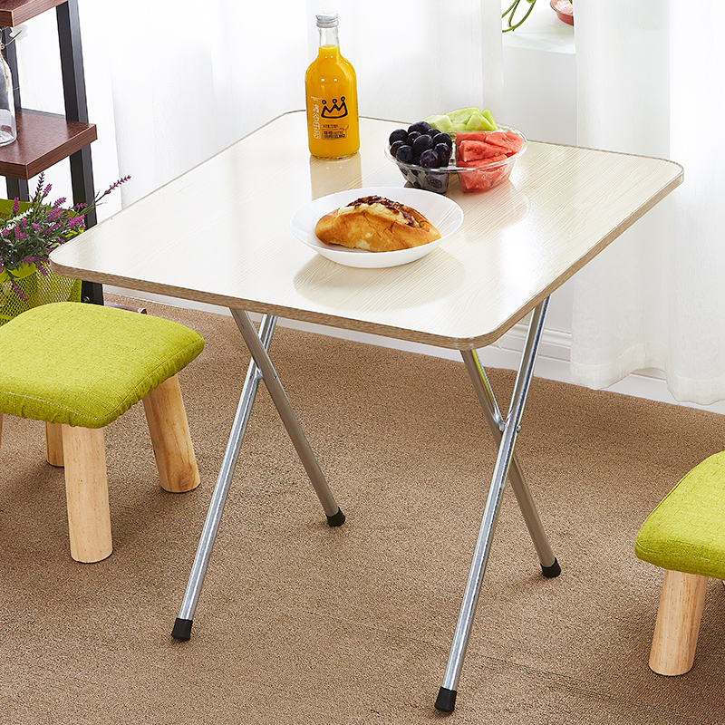 US $40.4 20% OFF Folding Table Small Table Simple Household Small Apartment  Two People Four People Stall Portable Square Small Dining Table-in Dining  ...
