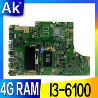 TP501UA материнская плата с 4G Оперативная память I3 6100 Процессор для ASUS TP501UA TP501U TP501UQ TP501UAM TP501UAK TP501UJ ноутбука Материнская плата версия 2,0