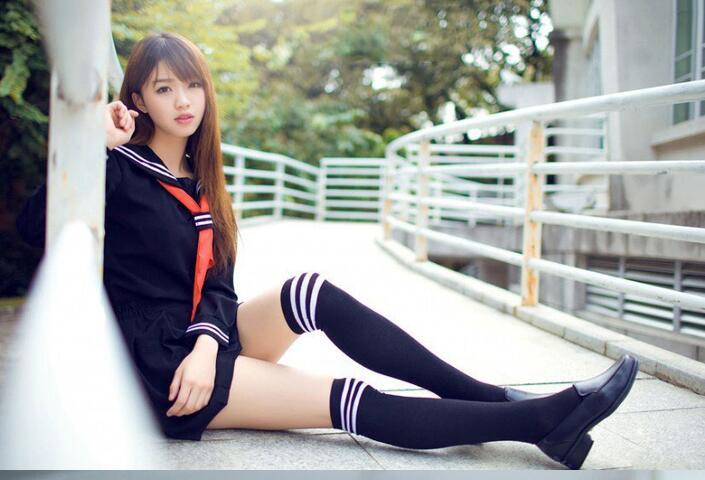 3pcs One Set Japanese School Sailor Uniform Fashion School Class Navy Sailor School Uniforms For Cosplay Girls Suit