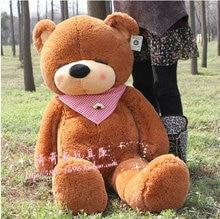 lovely teddy bear toy sleeping bear toy stuffed dark brown teddy bear gift about 100cm
