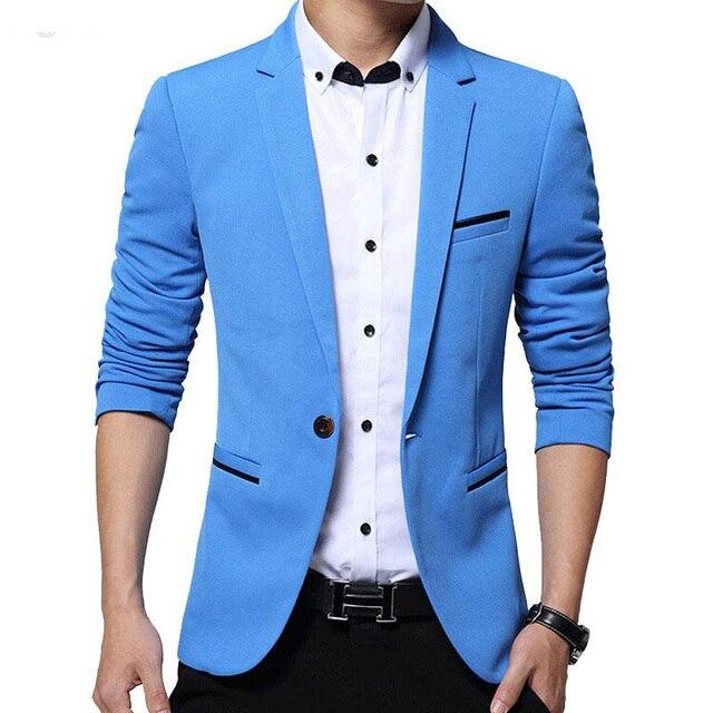 54cfa0834 Mens Casual Blazers Slim Fit Suit jacket Men Blazer Wear Coats One-button  Single Breasted Coat For Men