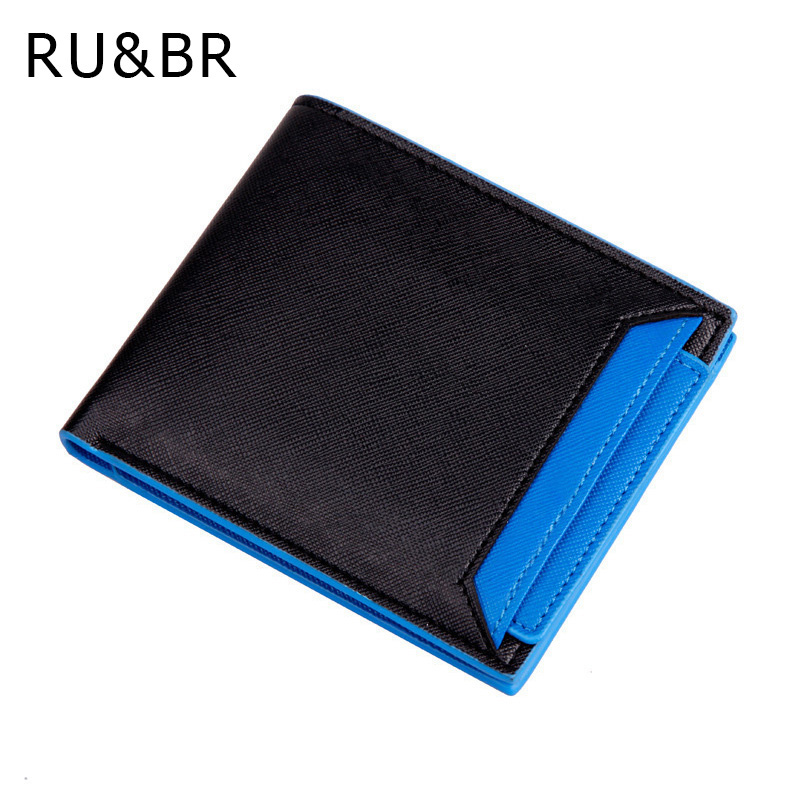 RU&BR New Arrival Fashion Candy Colors Men Wallets Short Designer Drive Couple Wallet Slim Creative Man Purse Card Holder Bags new arrival designer wallets brand