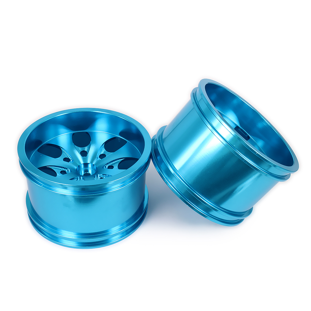 все цены на 2PCS 7 Spoke Wheel Rim w/o Tire Tyre For Rc Car 1/10 Monster Truck Big Foot Truggy Hop-Up HSP Axial Himoto HPI Traxxas Redcat