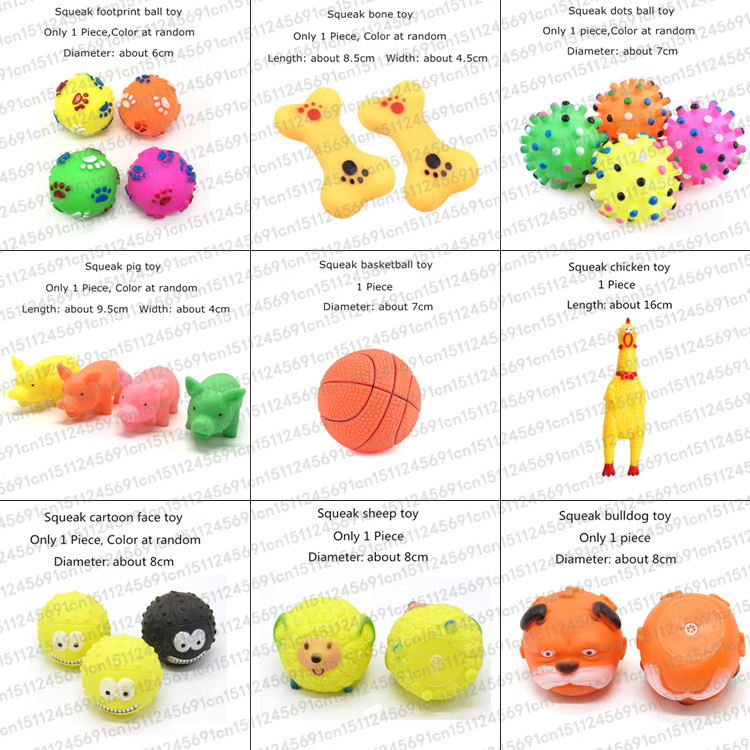 Rubber Squeak Toy For Dog Screaming Chicken Chew Bone Slipper Squeaky Ball Dog Toys Tooth Grinding & Training Pet Toy Supplies #2