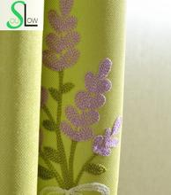 Slow Soul Purple Blue Green Pink Provence Dandelion Garden Europe Embroidered Curtains Tulle For Living Room Kitchen Bedroom slow soul white blue yellow jasmine curtain fabric embroidered floral kitchen curtains for living room tulle bedroom and luxury