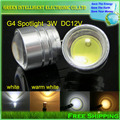 DC 12V G4 COB 3W LED Sportlight lamp White, warm white 250-300lumens LED Bulb,10pcs/lot