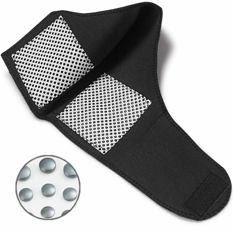 Tcare 1Pair Tourmaline Self heating Far Infrared Magnetic Therapy Ankle Care belt Support Brace Heel Massager Foot Health Care 3