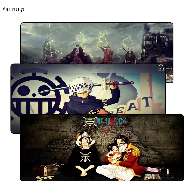 Mairuige One Piece Notbook Computer Mousepad Overlock Edge Big Gaming Padmouse Gamer to Laptop Mouse For CSGO DOTA LOL Gamer image