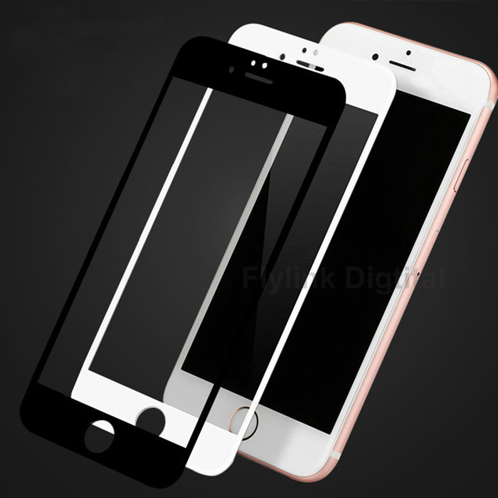 3D 9H Curved Edge Full Cover Screen Protector For iPhone 6S 6 Tempered Glass On The For iPhone 6 7 8 Plus Protective Glass Film in Phone Screen Protectors from Cellphones Telecommunications