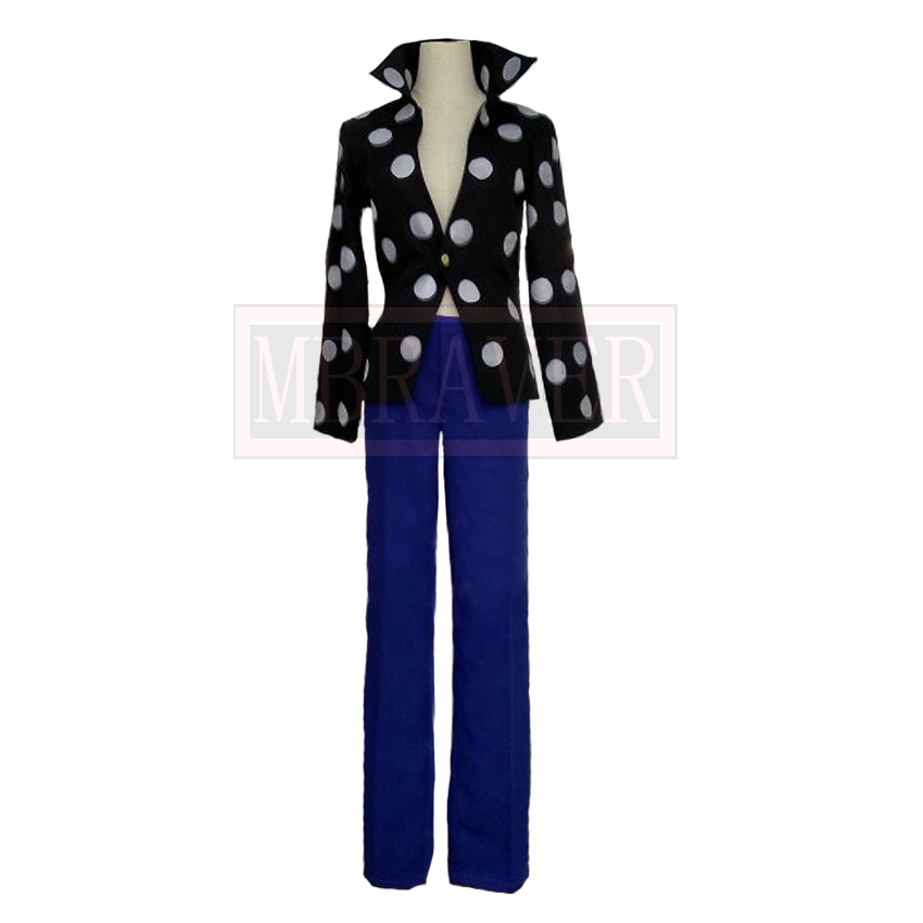 One Piece Cosplay Killer White Polka Dot Uniform Cosplay Costume Custom Made Any Size