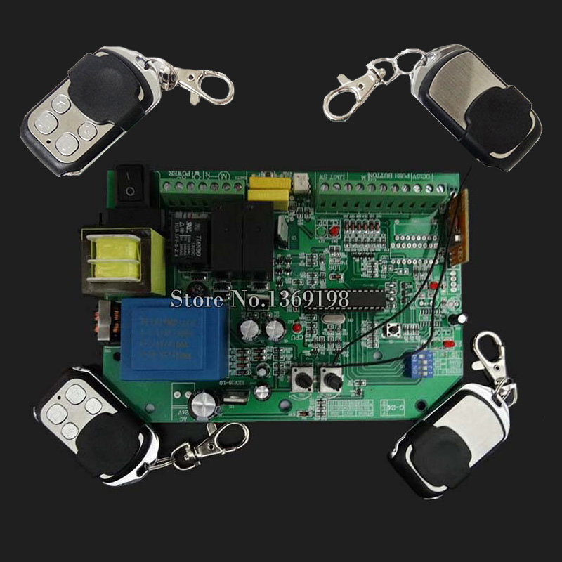 Brand New AC sliding gate opener control board + 4PCS remote control,learning code free shippingBrand New AC sliding gate opener control board + 4PCS remote control,learning code free shipping