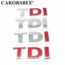 3D Metal TDI Logo letter Emblem Car Sticker Auto Rear Boot Badge Decals car styling for Volkswagen CC Tiguan Touran GTD GLI