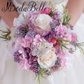 Розовый Фиолетовый Невесты Брошь Букет Кристалл Свадебные Букеты Для Невесты Искусственный Свадебные Букеты Невесты Buque Де Casamento