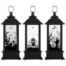 Электрический Хэллоуин Свеча Света буги светодиодный Имитация Пламя Свет Маленькая Масляная Лампа