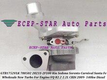 GTB1752VLK 780502 780502-5001S 28231-2F100 Turbo For KIA Sedona Sorento Carnival VQ CRDi For Hyundai Santa Fe 09 R2.2 2.2L 140kw