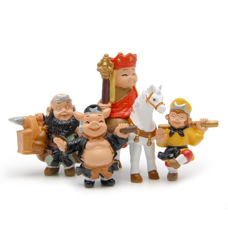 4 pcs/set Journey To The West Sun Wukong The Monkey King Animiation Action Figure Doll House Birthday Christmas Gifts Kids Toys 1 6 scale figure doll journey to the west monks the monkey king sun wukong 12 action figure doll collectible figure toy model