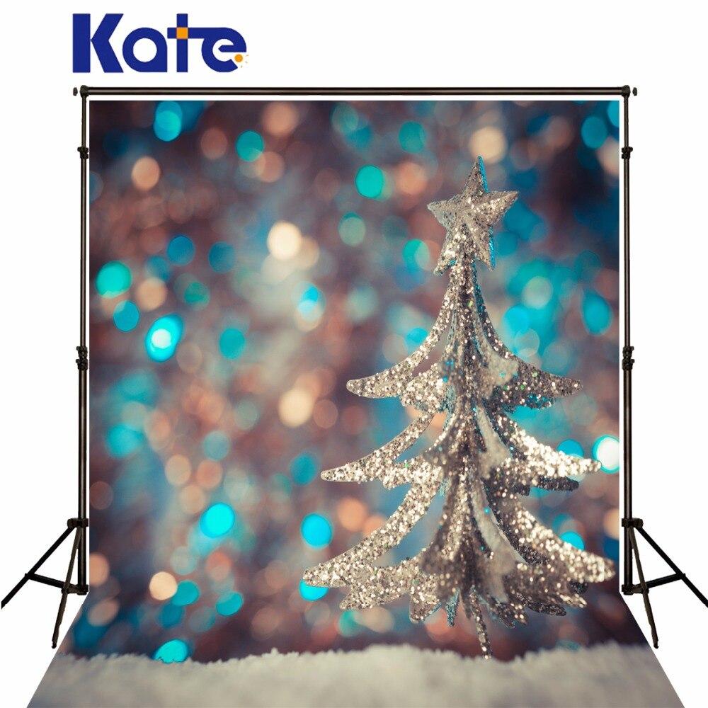 Kate Blurry Dreamlike Christmas Photography Backdrops With Christmas Tree Children Decor For Photo Studio Washable Background retro background christmas photo props photography screen backdrops for children vinyl 7x5ft or 5x3ft christmas033