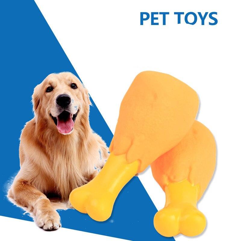 1 Stks Hond Squeak Chew Speelgoed Grappige Kip Benen Ontwerpen Hond Speelgoed Voor Kleine Grote Hond Kat Puppy Sound Kip Chew Toy Piepend Elegante Verschijning