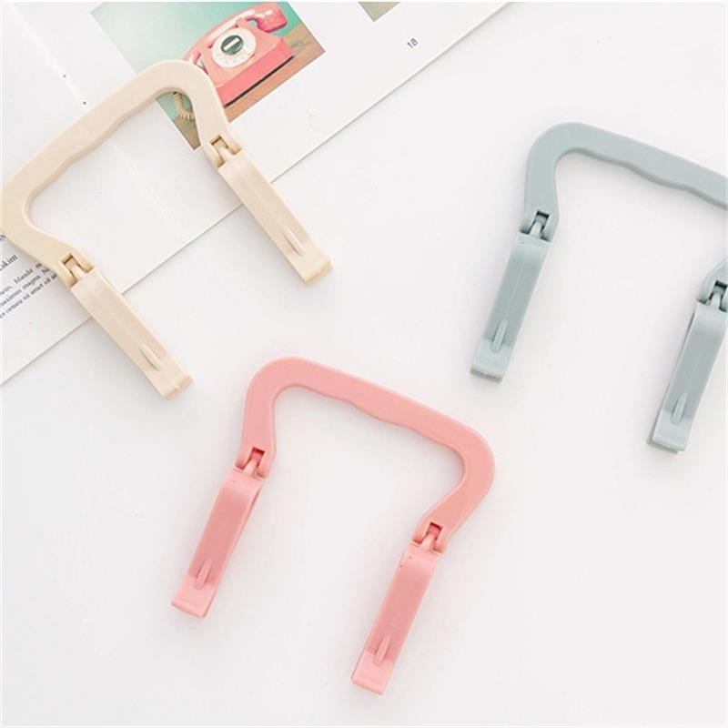 Image 5 - 1 Pcs Home Creative Plastic Portable Garbage Bag Fixing Anti slip Clip Buckle Barrel Side Holder Household Tool Convenient Life-in Clothes Pegs from Home & Garden