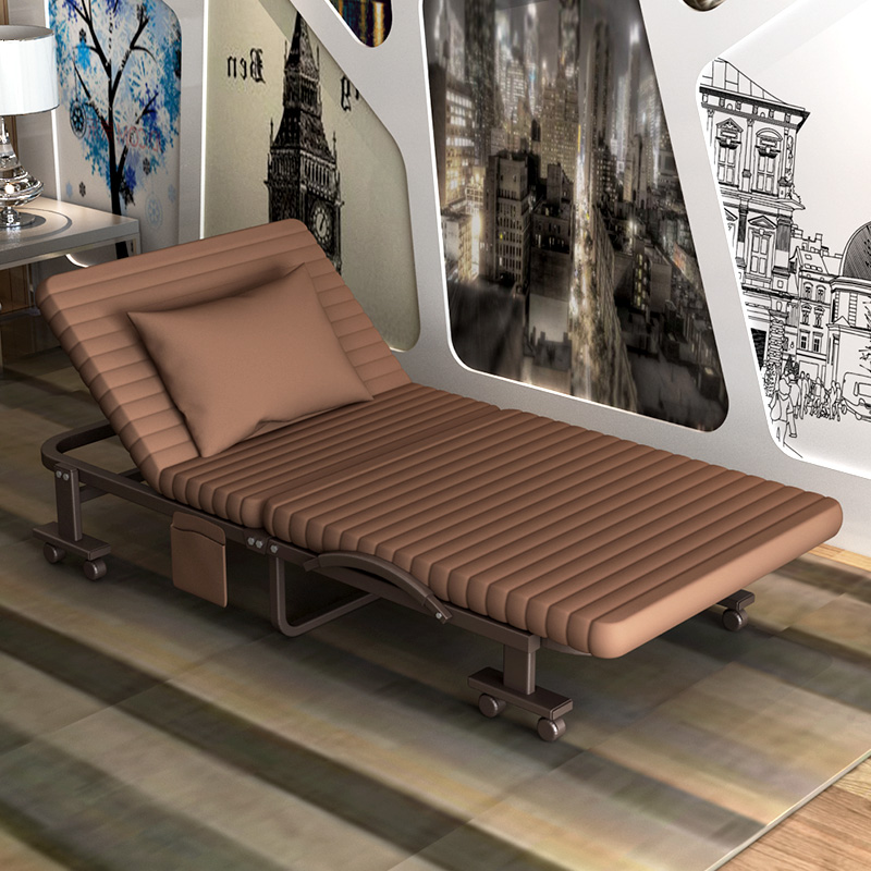 High Quality Folding Bed Single Bed Double Bed Siesta Nap Office 1.2 Meters  A Simple Portable