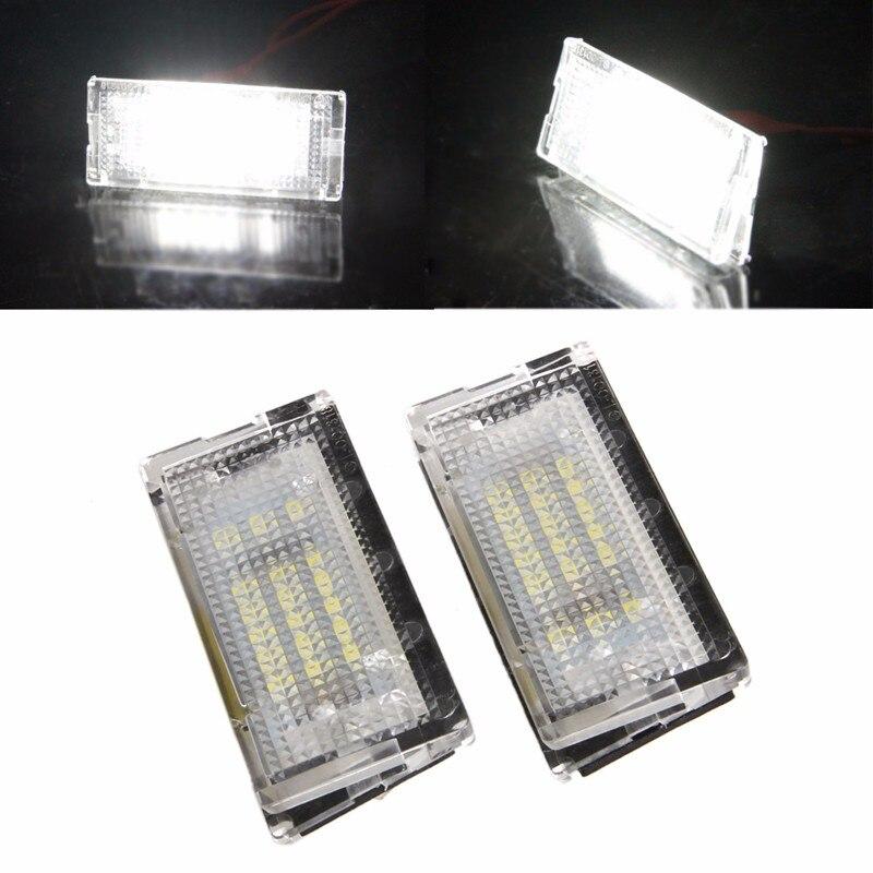 2Pcs 18 LED SMD Error Free License Plate White Light For BMW E46 4D 5D Sedan Car Light Source плед luxberry плед imperio 10 цвет лавандовая вода 150х200 см