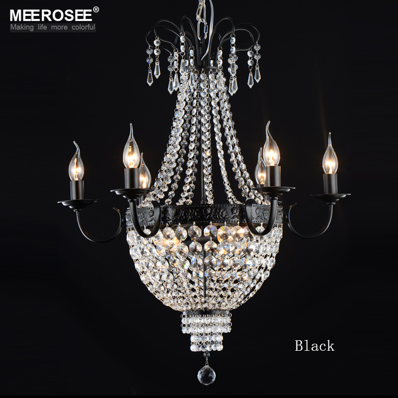 Aliexpress French Empire Crystal Chandelier Light Fixture Vintage Lighting Wrought Iron White Chrome Black Color From Reliable Blue