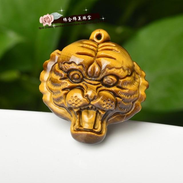 Natural jade pseudocrocidolite pendant pendant opal stone tiger tiger shape the king sent her boyfriend