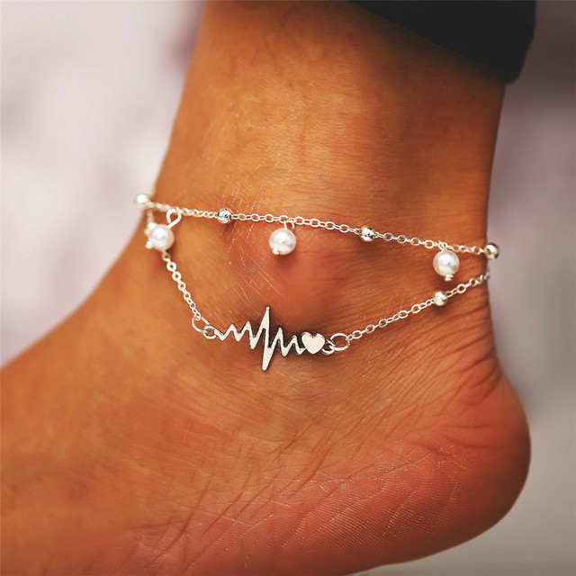 Miss JQ New Arrival Silver Color Anklet For Women Fashion Bohemian Beach Jewelry