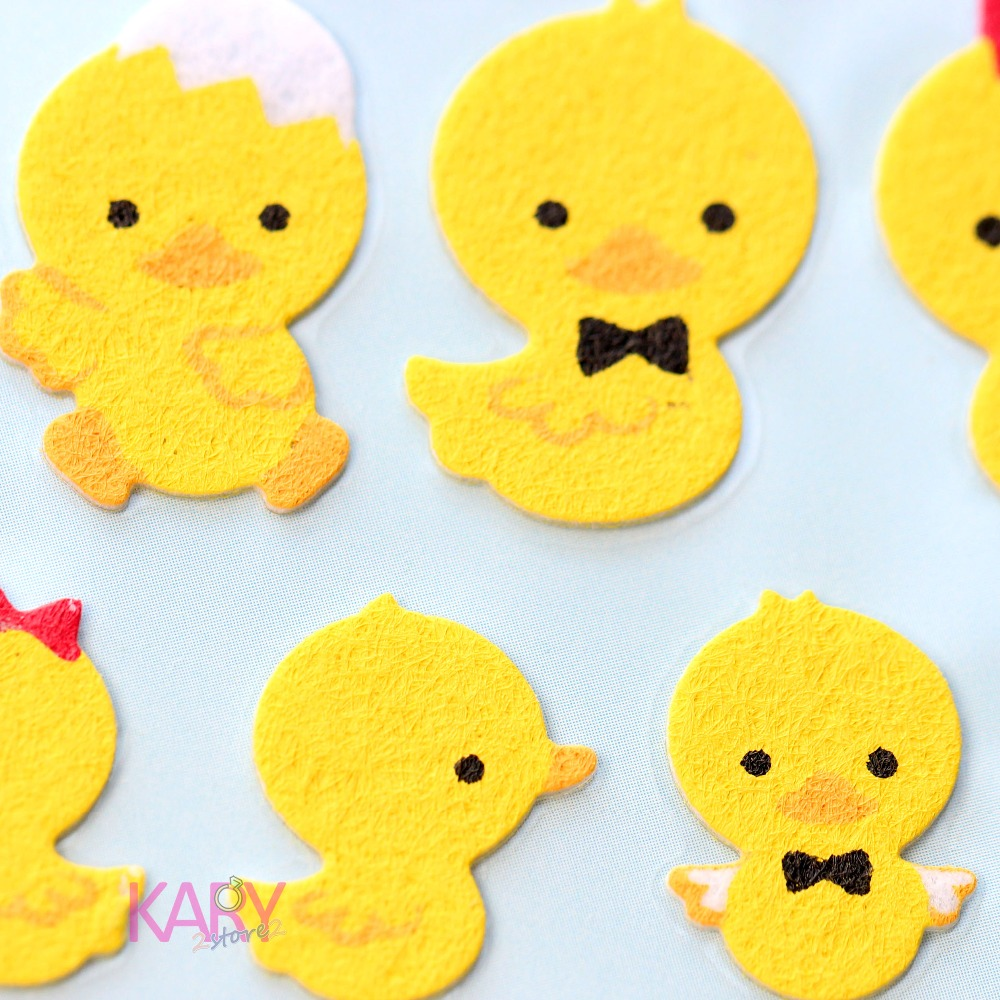 Cute White Egg Ducks Family Animals Sponge Stickers Scrapbooking Phone Fashion Craft Kawaii Emoji Reward Kids Toys For Children