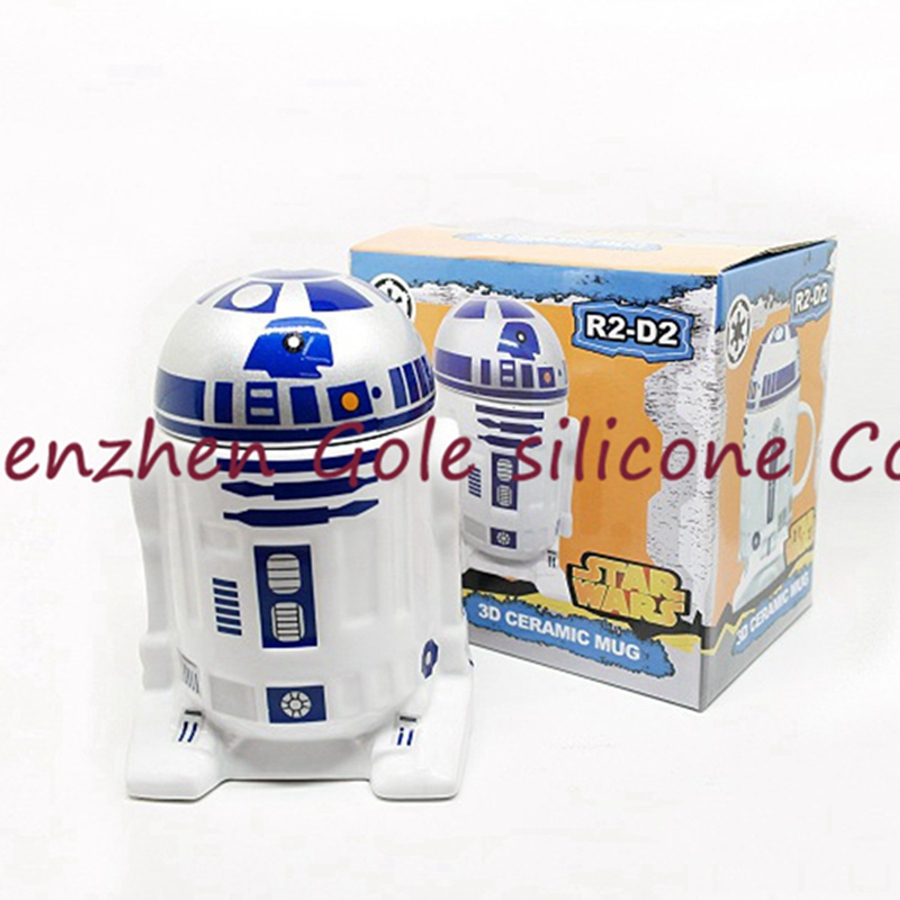Creative Star Wars R2-D2 Robot Ceramic Mug Personality Coffee Cup Fun Porcelain Tea Cup Zakka Tumbler for Children Friend Gift