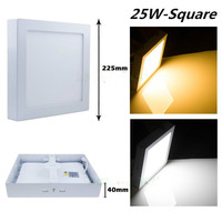 DHL Free Shipping for 1pc 25W, 1pc 15W and 3pcs 9W Square Surface led Panel Light AC85 265V with driver