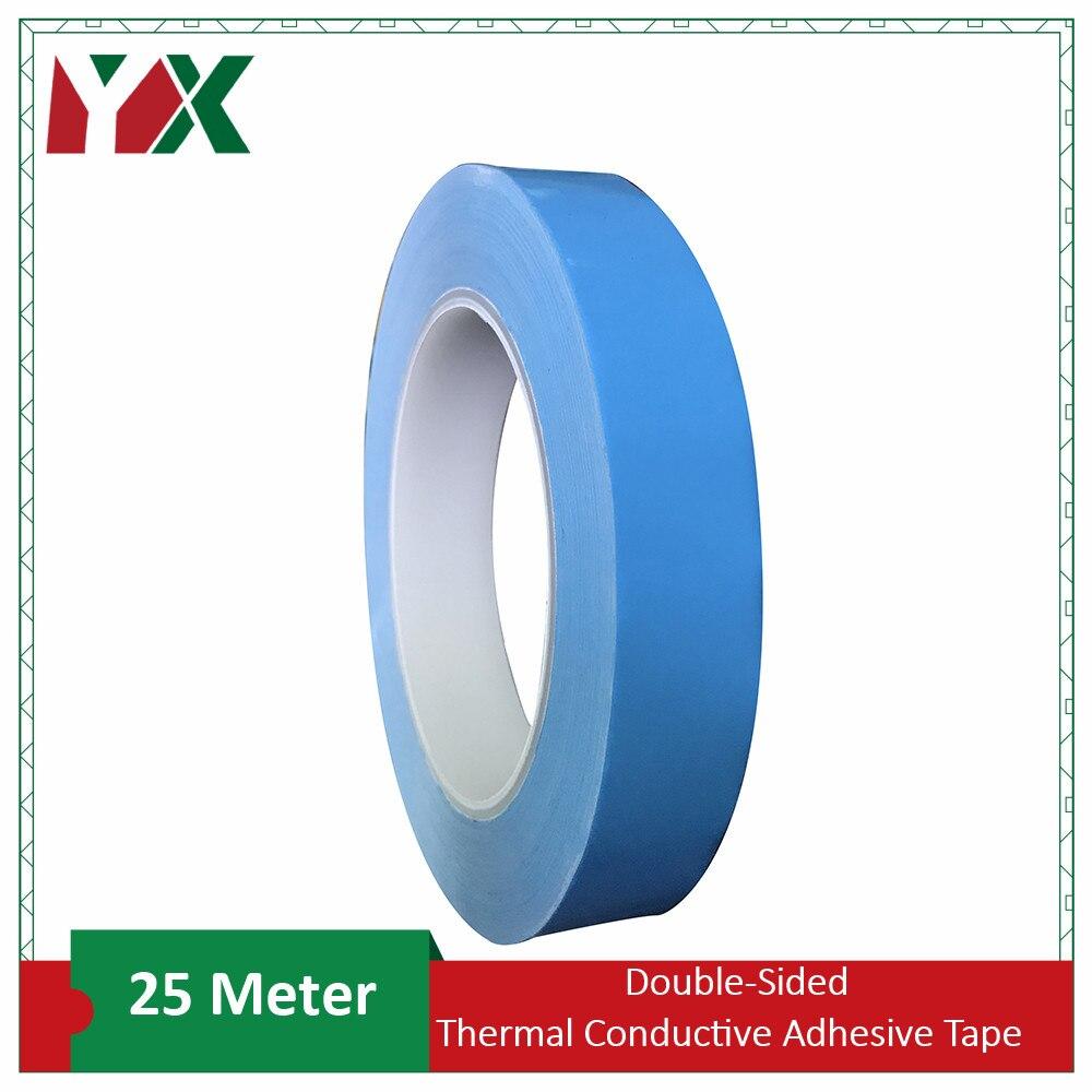 25 m/Roll ruban adhésif double face pour ic Transfert Double face Ruban Chauffant Ruban Adhésif Thermoconducteur Pour PCB CPU LED Bande Lumineuse H