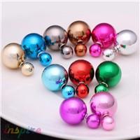 Hot-Selling-Double-Side-Earrings-Pearl-Stud-Shining-Earrings-Big-Pearl-16mm-Stud-Earrings-For-Women