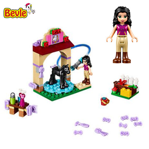 Bevle 10552 Bela Friends Series Foal's Washing Stati Toys Model Building Kits Block Bricks Compatible With LEPIN Friends 41123 lepin 22001 pirate ship imperial warships model building block briks toys gift 1717pcs compatible legoed 10210