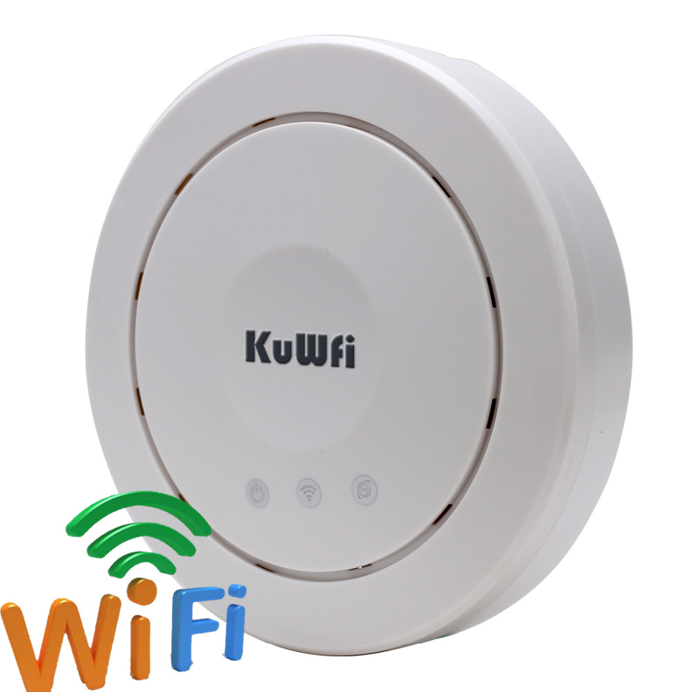 Image 2 - 300Mbps Wireless Ceiling AP Router High Power Indoor Wireless Router AP Wifi Repeater Signal Booster 24V POE Adapter-in Wireless Routers from Computer & Office