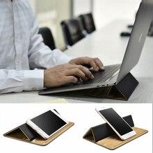 Универсальный телефон ноутбук Настольный кожаный Стенд складной регулируемый кронштейн портативный планшет держатель для iPad MacBook lenovo samsung