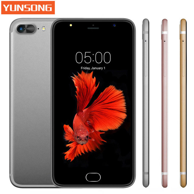 YUNSONG A7 Plus Mobile Phone 5 5 inch 13 0MP camera Smartphone MTK6580 Quad Core telephone