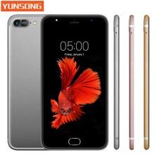 Yunsong a7 plus mobile téléphone 5.5 pouce 13.0mp caméra smartphone mtk6580 quad core téléphone android 5.1 cellulaire téléphone gsm/wcdma 3g