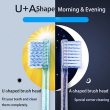 2pcs Professional Orthodontic Toothbrush Health Toothbrush For Oral Care Teeth Cleaning Eco Soft Bristle Brushes 2pcs adults toothbrush soft bristle toothbrush binchotan toothbrush couples toothbrush soft bristle oral care oral hygiene