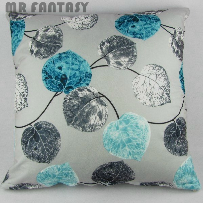 Square Luxury Indian Decorative Plush Floral Throw Pillow Cushion Cover 18x18 Teal Blue Colorful