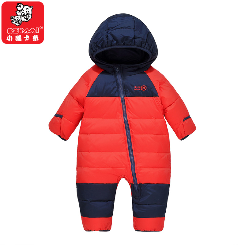 Autumn Winter Toddler Boys Girls Duck Down Jacket Baby Jumpsuit Baby Rompers Overalls Boys Girls Down Clothes Kids Snowsuit Coat 2017 date 2 under ultra light baby girl duck down jacket down over 90% of hot spring autumn winter coat with cap kids clothes