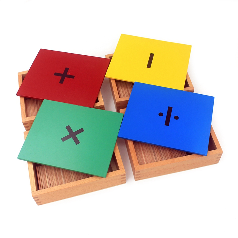 Montessori Teaching Aids Wooden Toys Mental Arithmetic Division Box Multiplication & Division Early Learning Developmental Gift(China)