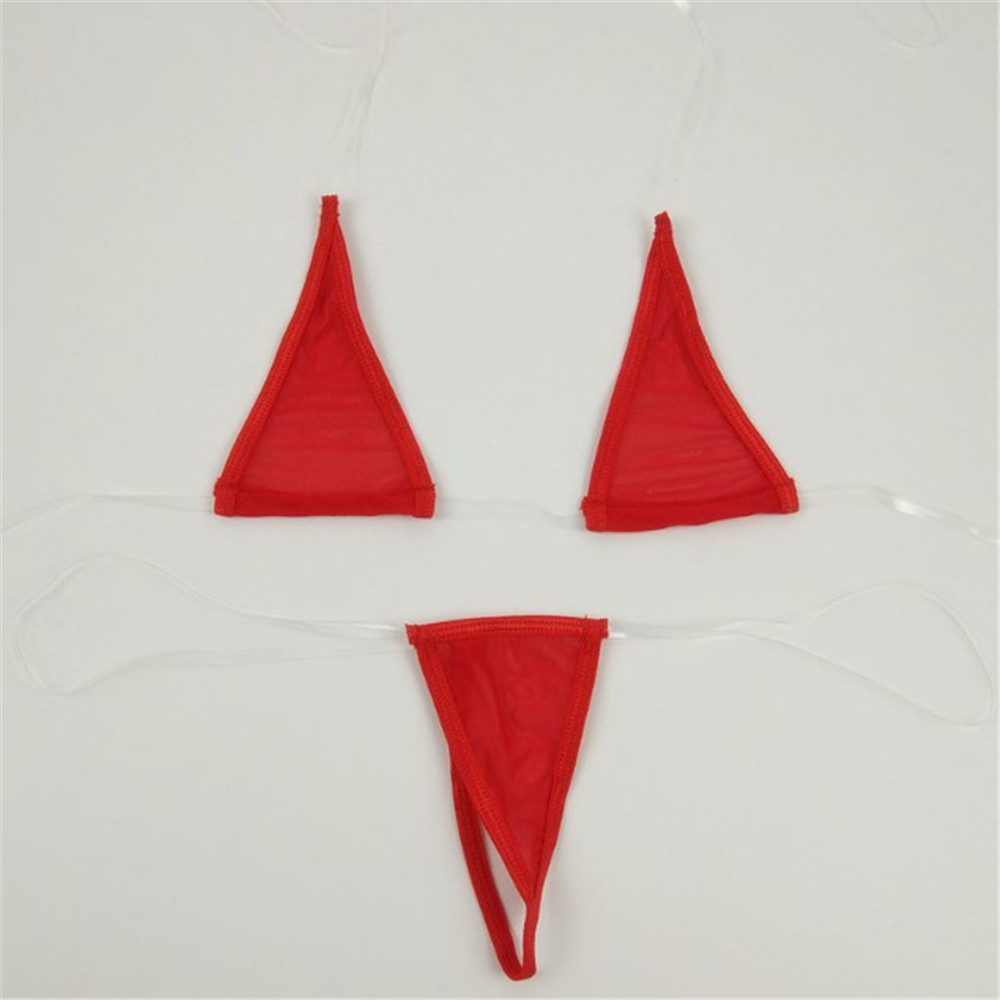 Micro Bikini 2019 Sexy Hanging Neck Transparent Invisible Belt Triangle Girl Swimwear Women Swimsuit Women Biquini Mini Bikinis