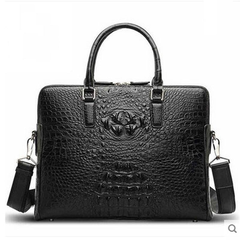 2018 hlt New crocodile leather man's leather high-volume fashion man bag business casual man's briefcase щипцы hlt 10