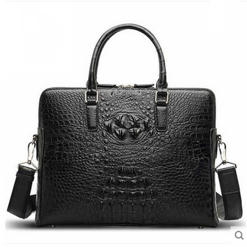 hlt New crocodile leather man's leather high-volume fashion man bag business casual man's briefcase щипцы hlt 10